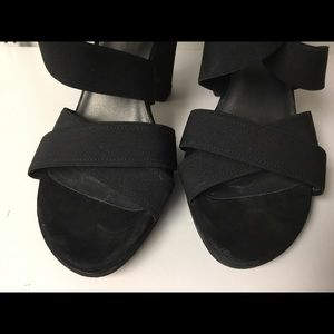Stuart Weitzman Shoes - Stuart Weitzman black stretchy strap sandals size7